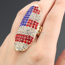 American Flag Printed Fashion Stretch Rings