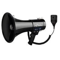 50 watt portable super speaker Professional Outdoor Voice megaphone for Police & Cheer leading with Detachable Microphone