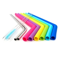Wholesale high quality stainless steel drinking straw spoon bubble tea