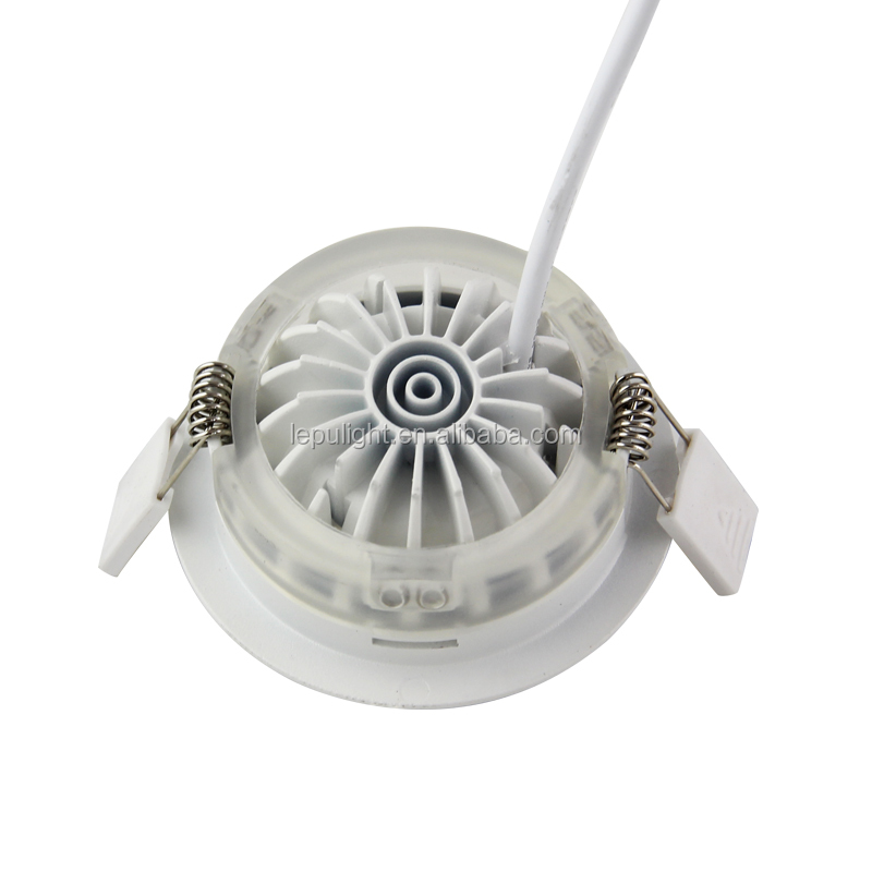 Triac Dimmable Gyro Recessed IP44 7W Led COB Downlight