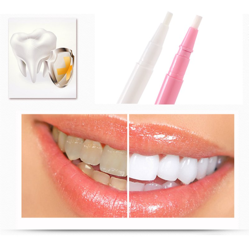 White Pink Tooth Whitening Gel Pen Whitener Cleaning Bleaching Kits Dental Teeth Z5035