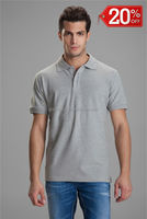 Grey men POLO shirt cotton fabric, best men dress shirt brands, new model casual POLO shirt for men