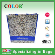 2014 Color shoes print pp non woven shopping bag with inside laminated