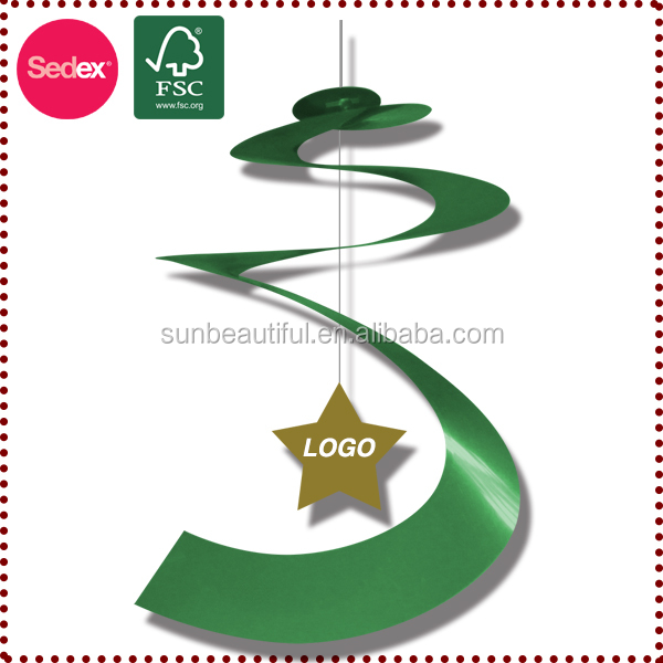 Christmas new hot items for 2014 Christmas hanging decorations,party swirl hanging decoration