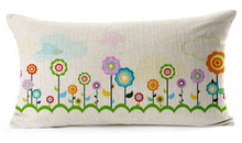 Rectangle Back Support Rural Flower Cushion Sofa Cushion