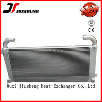 High cooling efficiency aluminum plate fin (bar-fin) industrial and mining car oil cooler by vacuum brazing