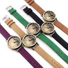 Vintage Wrist Watch PU Band Analog Retro Steel Case Music notation Fashion Watches