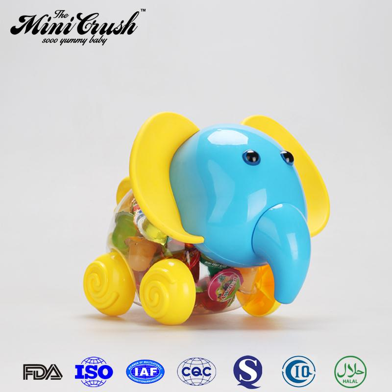 Elephant toy jars with gummy candy coconut fruit jelly