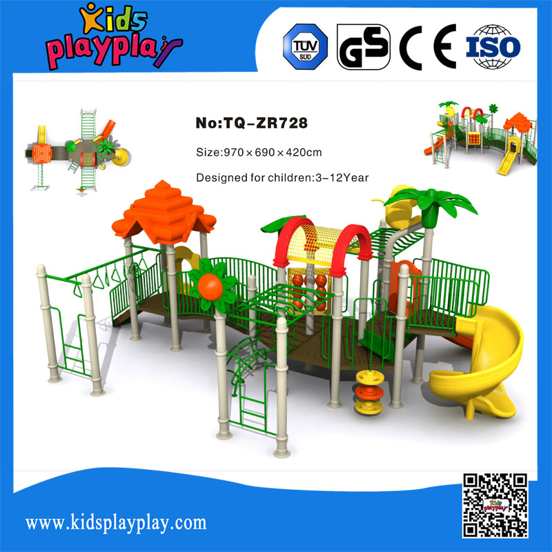 Kids outdoor dragon playground toys outdoor playground with big slide