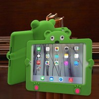 Cute animal shape anti-shock silicone case for ipad mini