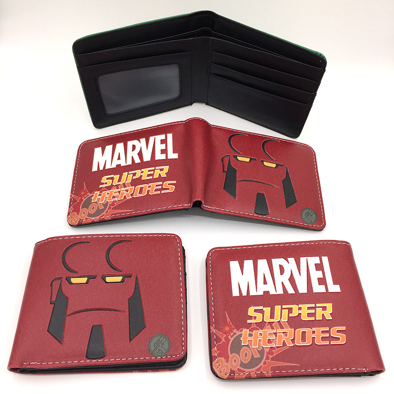 Marvel Leather Wallets IronMan Money Purse PU Card Coin Bag