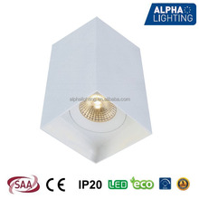 7W high bright led surface ceiling light dupont powder coating with HEP driver