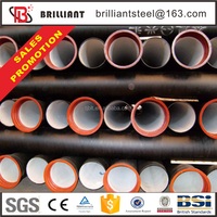 Trade assurance ductile iron pipe rates 1200mm ductile iron pipe cast iron water pipe