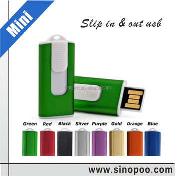 Novetly branded 2gb 4gb compact mini slider usb flash disk