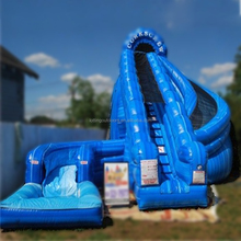 RED commercial jumping castles inflatable water slide