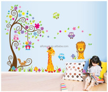 ALFOREVER the owl on the tree pvc wall sticker,removable wall decals