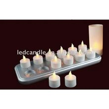 set of 12 led wireless rechargeable light tea light