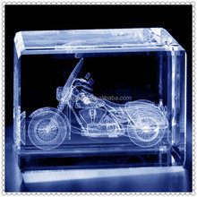 3D Crystal Etched Motorcycle Model For Wholesale Supplies