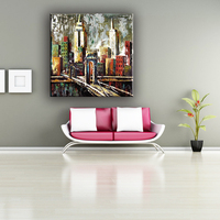Cheap simple scenery wall canvas painting for home decoration