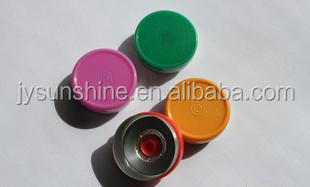 aluminium tear off plastic caps of pharmaceutical glass bottle