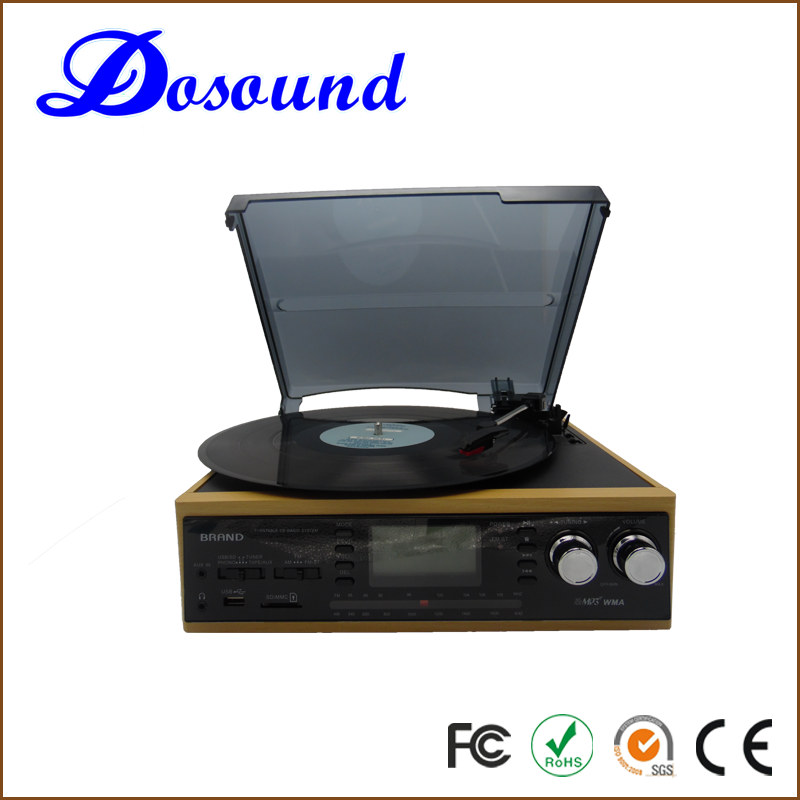 Electric gramophone automatic belt drive turntable cassette encoding cd recording vinyl player