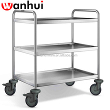 New 3 tier stainless steel kitchen dining trolley serving utility cart New 3 tier stainless steel kitchen dining trolley servin