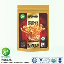 Lifeworth cordyceps cappuccino natural herbs coffee with free design and samples