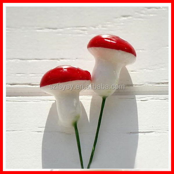 2016 Funny And Cute Micro View Epoxy Material Artificial Plastic Fake Mushroom