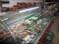 Green&Health Supermarket Equipment Butcher Shop Equipment Used Commercial Meat Display Chiller Hot Deli Showcase for Sale