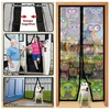 anti insect mosquito magnetic door mesh guard curtain