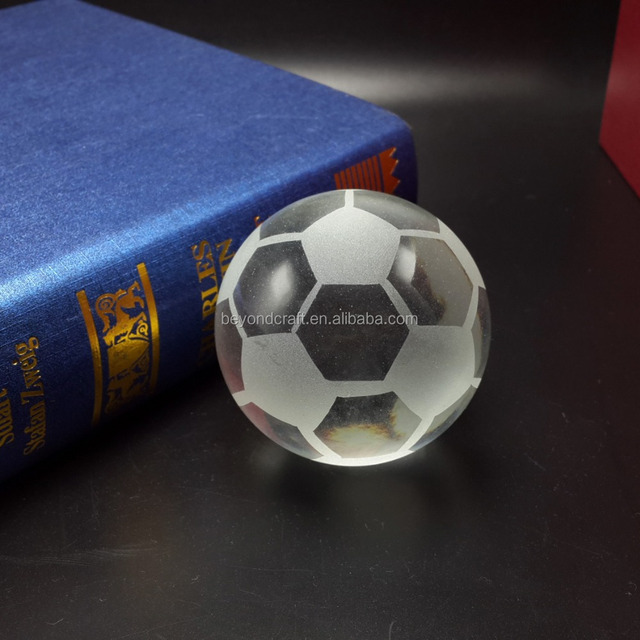 Souvenir sports supplies crystal football soccer glass ball