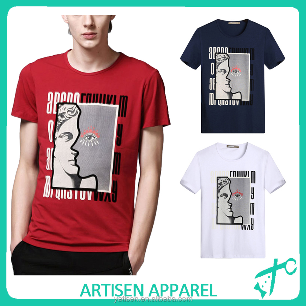 95 cotton 5 spandex t shirts with new printing pattern t for 95 cotton 5 elastane t shirt