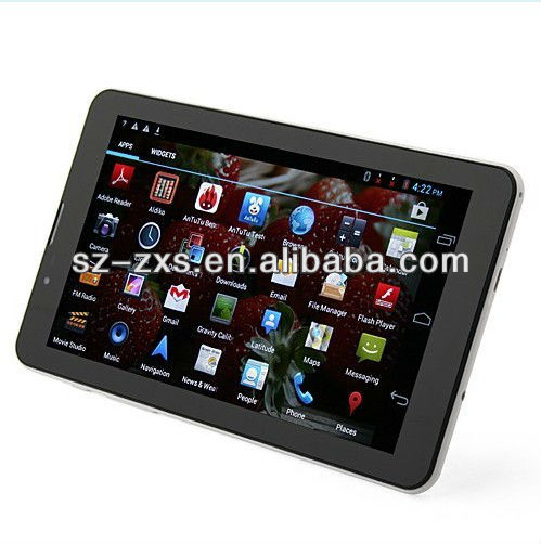 "ZXS-Tablet pc 3G Sim Card Slot MTK6577 3G GPS Phone Tablet PC 7"" HD 1024*600 Screen 1G/8G,3G Android Tablets"
