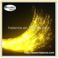 luminous optical fiber for decorative lighting
