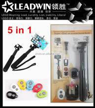 LW-TT01 new arrival handheld flexible mini gopro monopod phone