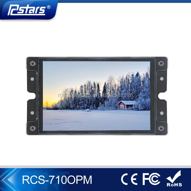 mini 7 inch open frame lcd monitor with vga dvi and hdmii, oem/odm monitor