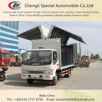 120hp, Euro 4 emission,JAC wing opening box van, wing van truck