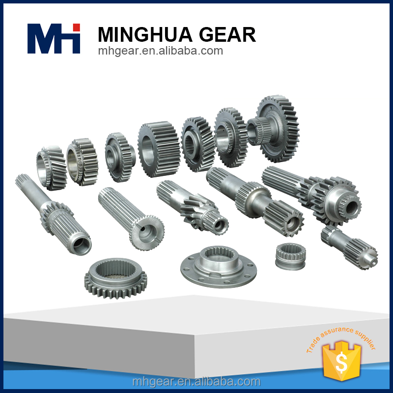 large sized tractor metal spindle gearing gear and shaft of transmission