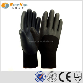 sunny hope nylon nappy double liner nitrile winter glove