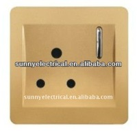 brand factory outlet Golden color 15ampere with 1 gang switch