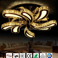 LED Round Crystal Living Room Lights
