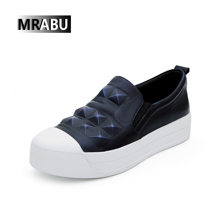 dark blue china factory branded leather women gym sneakers shoes 2017 women flat