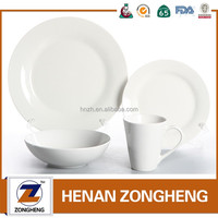 16pcs closeout cheap used china restaurant porcelain dinnerware
