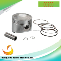 OEM high quality motorcycle engine spare parts CG200 piston kits for hot sale