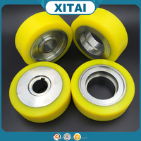 Factory Supplier OEM Service small rubber drive wheels PU and wheel hub strong adhesion Urethane Polyurethane wheels