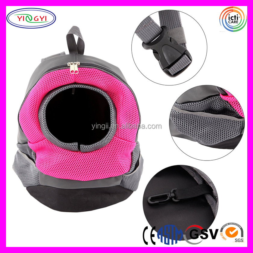 B538 Rose Red Pet Dog Cat Pet Carrier Backpack Portable Outdoor Travel Cat Backpack