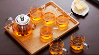 Hot selling turkish glass tea pot for restaurant and home