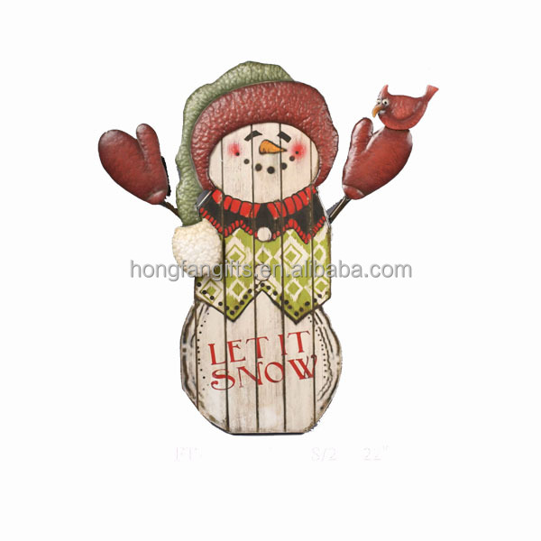 hot sale promotional christmas decoration metal snowman