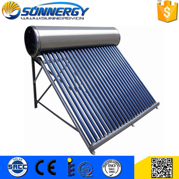 Manufacturer Supplier Heat pipes for solar water heater panels of 110L Capacity