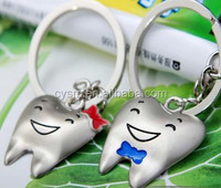 Dental Supply CYSM-142 Couple Tooth Type Dental Key Chain